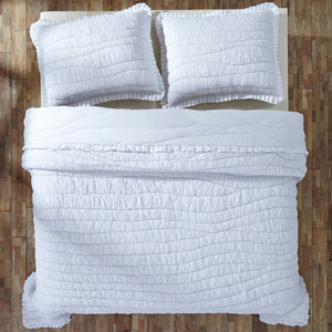White Aurora Twin Quilt