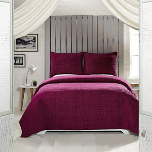 Rochelle Boysenberry Two-Piece Twin Quilt Set