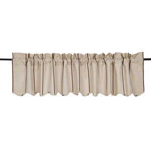 Charlotte Slate Scalloped Valance 16 x 7 Two
