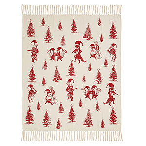 Creature Carol Tan and Red Throw