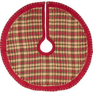 Claren Red and Green 21 In. Mini Tree Skirt