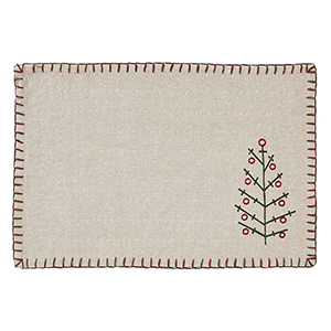 Tidings Tan Placemat, Set of 6