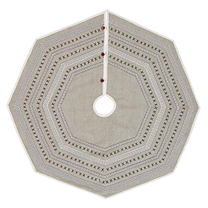Liv Grey and Red 48 In. Tree Skirt