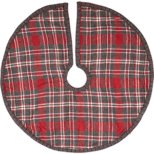 Anderson Red and Grey Plaid 21 In. Mini Tree Skirt