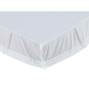 Adelia Marshmallow Twin Bed Skirt