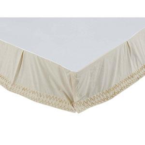Adelia Beige Twin Bed Skirt
