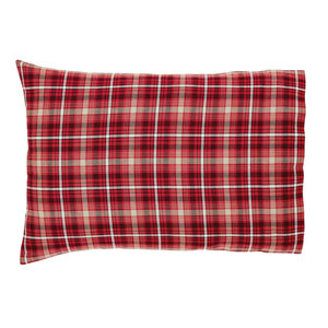 Braxton Apple Red 21 x 30-Inch Pillow Case, Set of Two