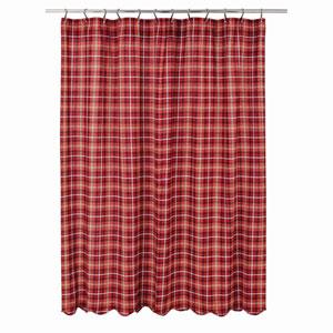 Braxton Apple Red 72 x 72-Inch Shower Curtain