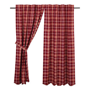 Braxton Apple Red 63 x 36-Inch Short Panel Set of Two