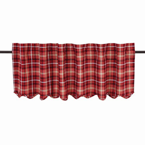 Braxton Apple Red 16 x 60-Inch Valance