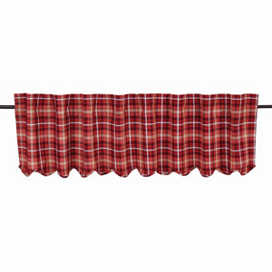 Braxton Apple Red 16 x 72-Inch Valance