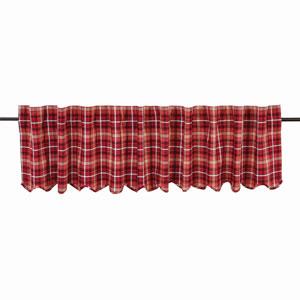 Braxton Apple Red 16 x 90-Inch Valance