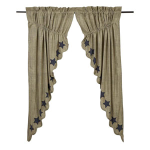 Vincent Khaki 63 x 36 x 18-Inch Prairie Curtain, Set of Two