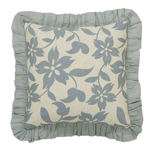 Briar Marzipan 18 x 18-Inch Accent Pillow with Down Filling