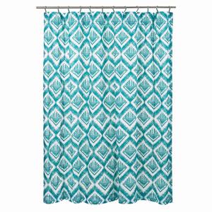 Karina Teal 72 x 72-Inch Shower Curtain