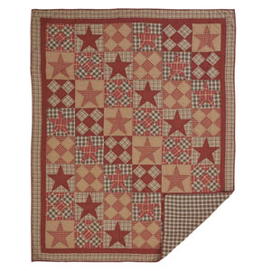 Dawson Star Khaki Twin Quilt