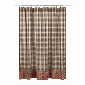 Dawson Star Woodland Brown 72 x 72-Inch Shower Curtain