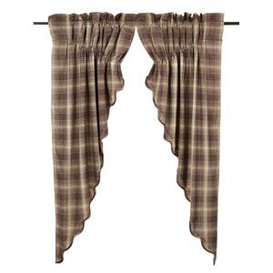 Dawson Star Woodland Brown 63 x 36 x 18-Inch Prairie Curtain, Set of Two