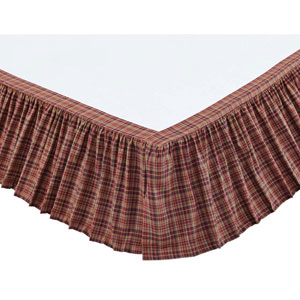 Parker Burgundy Twin Bed Skirt