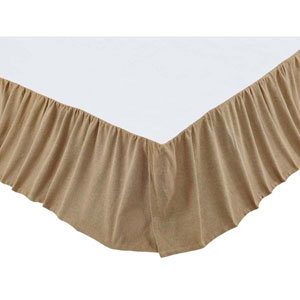 Burlap Natural Twin Bed Skirt
