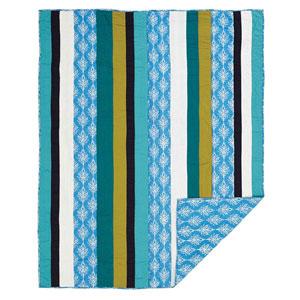 Laguna Cornflower Blue Twin Quilt