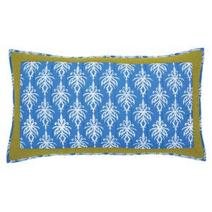 Laguna Cornflower Blue 21 x 37-Inch Luxury Sham