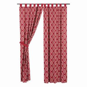 Paloma Crimson 84 x 40-Inch Panel Set