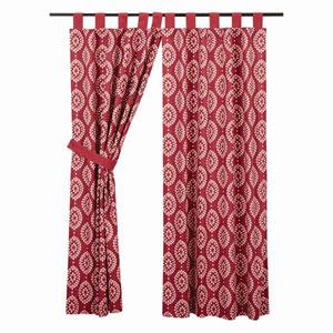 Paloma Crimson 63 x 36-Inch Short Panel Set of Two