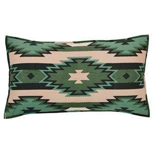 Sante Fe Hunter Green 21 x 37-Inch Luxury Sham