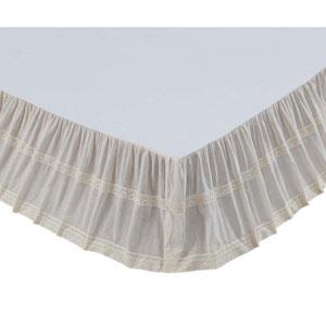 Quinn Crème Twin Bed Skirt