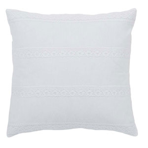 Quinn Marshmallow 18 x 18-Inch Accent Pillow with Down Filling