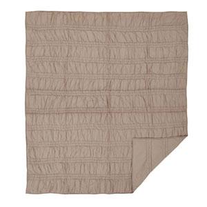 Natasha Warm Taupe Twin Two-Piece Quilt Set