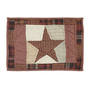 Abilene Star Burgundy Placemat, Set of Six