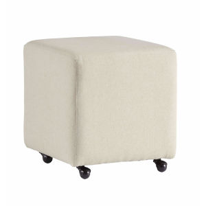 River Off White 18-Inch Castered Stool