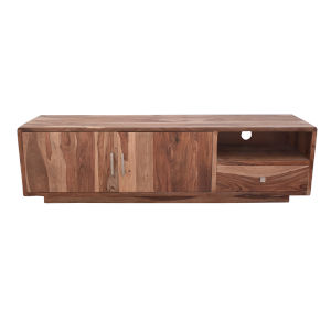 Vacation Natural Low Console with Cabinet and Drawer