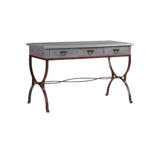 Piper Rustic Blue Gray Desk