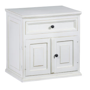 Carli Vintage White Nightstand