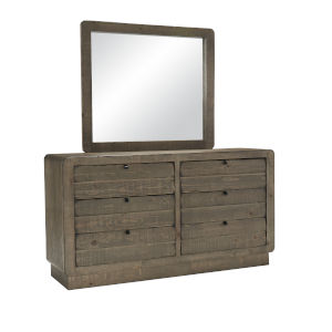 Bliss Mocha Drawer Dresser with Mirror