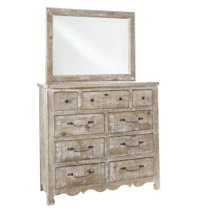 Chatsworth Chalk Drawer Dresser with Mirror