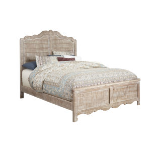 Chatsworth Chalk Complete Queen Panel Bed