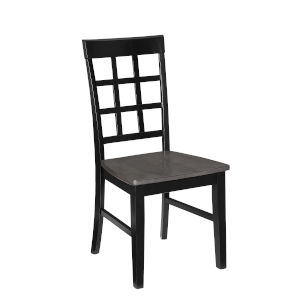 Salem Gray and Black Window Pane Dining Chair
