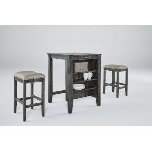 Tapas Weathered Pepper Counter Table and Stool, 3-Piece