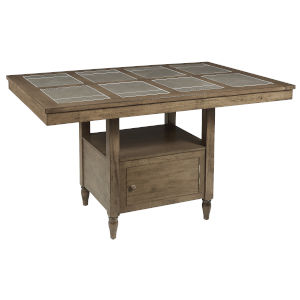 Keystone Weathered Pecan and Gray Counter Table