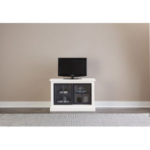 Habitat Snow and Black 40-Inch Entertainment Console