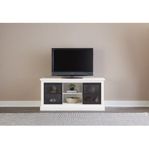 Habitat Snow and Black 58-Inch Entertainment Console