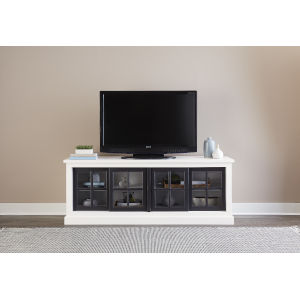 Habitat Snow and Black 74-Inch Entertainment Console