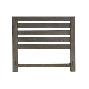 Willow Distressed Dark Gray Queen Slat Headboard