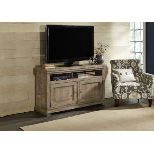 Willow Weathered Gray 54-Inch Entertainment Console