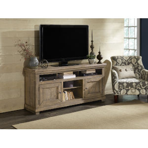 Willow Weathered Gray 64-Inch Entertainment Console