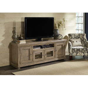 Willow Weathered Gray 74-Inch Entertainment Console